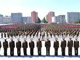 """Antiamerikanische Großkundgebung in Pjöngjang (Propagandabild): Die USA verfügen über nicht näher genannte """"Kommunikationskanäle"""" nach Nordkorea."""