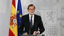 """""""Es hat kein Referendum gegeben"""": Rajoy verteidigt den Polizeieinsatz"""