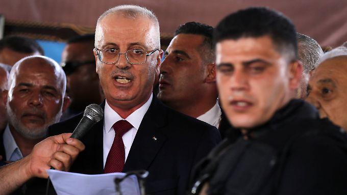 Seit rund zwei Jahren war der palästinensische Ministerpräsident Rami Hamdallah nicht mehr im Gazastreifen.