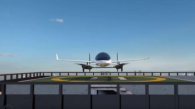 Computergesteuerter Flug von Hochhausdach zu Hochhausdach (Grafik): Aurora Flight Science soll künftig für Boeing Taxidrohnen bauen.
