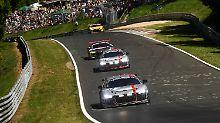 Testfahrt für den Audi R8 LMS GT4 auf dem Nürburgring.