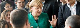 Ein wenig Kritik, viel Applaus: Junge Union nimmt Merkel ins Kreuzverhör