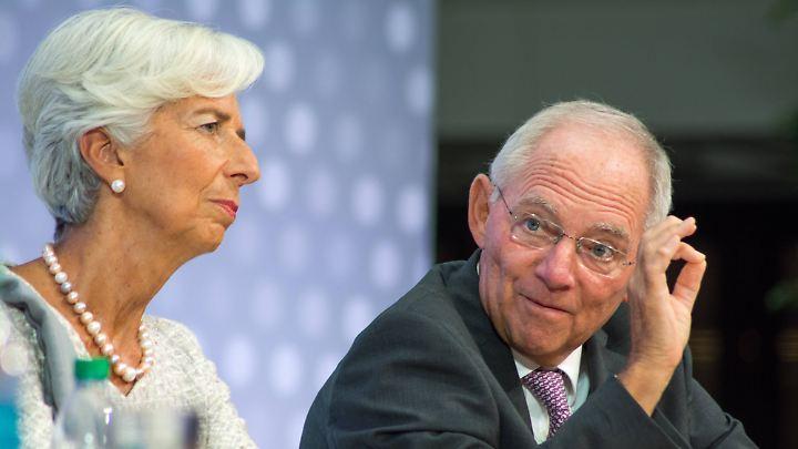 Bundesfinanzminister Schäuble 2016 neben IWF-Direktorin Lagarde. Einmal noch reist er zur Herbsttagung.