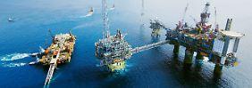 Statoil-Ölplattform vor der norwegischen Küste.
