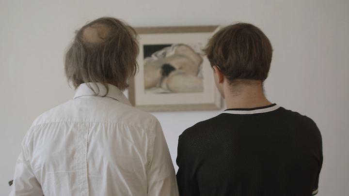 """Rocky versucht es mit Bildung und der """"schönsten Vulva der Kunstgeschichte"""". Thorben: """"Da sieht man ja gar nichts!"""" (im Bild übrigens das Gemälde """"L'origine du monde"""", """"Der Ursprung der Welt"""", von Gustave Courbet)"""