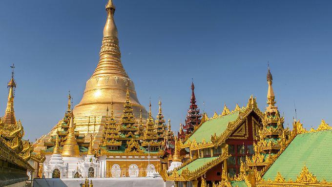 Eigentlich alle Besucher Ranguns kennen die Shwedagon-Pagode.