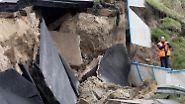 Bilder wie nach einem Erdbeben: Zwölf Jahre nach dem Bau versinkt die A20