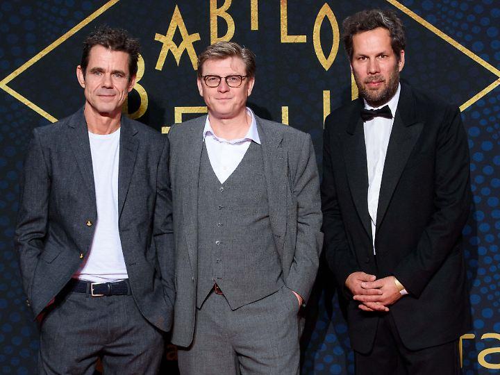 """Tom Tykwer, Henk Handloegten und Achim von Borries (v.l.) haben bei """"Babylon Berlin"""" Regie geführt."""