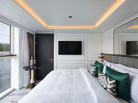 """Auf der neuen """"Crystal Bach"""" gibt es besonders große Suiten mit bodentiefen Fenstern."""
