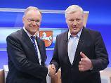 Bleibt Stephan Weil (links) Ministerpräsident, oder wird es Bernd Althusmann?