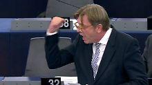Brexit-Verhandlungen stocken: Verhofstadt fordert London zum Zahlen auf