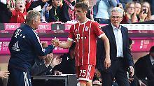 Jupp Heynckes auf der Trainerbank ist für den FC Bayern offenbar schon die halbe Miete. Auch Thomas Müller trifft wieder.