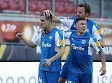 Holstein Kiel sorgt weiter für Furore: Der Aufsteiger eilt auch in Liga 2 von Sieg zu Sieg.