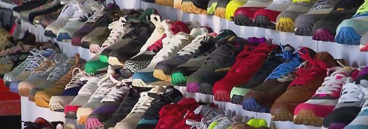 Bunte Welt sportlicher Treter: Faszination für Sneaker ist ungebrochen