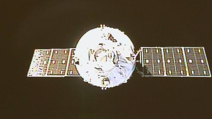 """Himmelspalast """"Tiangong 1"""": In dem Raumlabor wurden Kopplungsmanöver mit chinesischen Raumschiffen geprobt."""