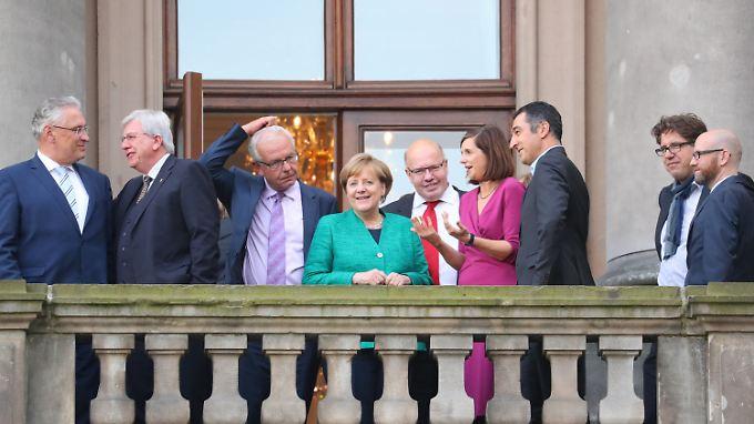 Am Mittwoch trafen sich Kanzlerin Angela Merkel und Anhang erstmals mit den Vertretern der Grünen zu Sondierungsgesprächen.
