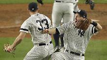 Der Sport-Tag: Baseball-Dramen: Yankees drehen Serie, Cubs kämpfen