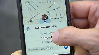 Überwachung durch Live-Standort?: Nutzer sehen neue WhatsApp-Funktion skeptisch