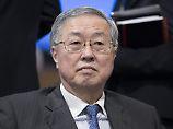 Blickt ein wenig skeptisch in die Zukunft: Chinas Zentralbankchef Zhou Xiaochuan
