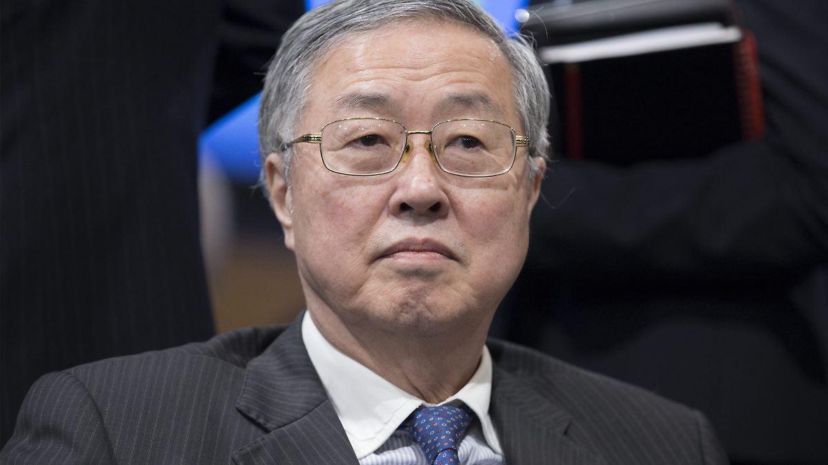 Chinas Zentralbankchef warnt vor Krise