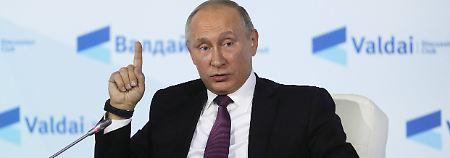 """Ziel: """"Erniedrigung des Landes"""": Putin wittert Olympia-Verschwörung der USA"""