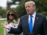 Donald Trump mit Ehefrau Melania - der echten.