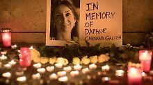 Mord an Daphne Caruana Galizia: Malta bietet eine Million Euro für Aufklärung