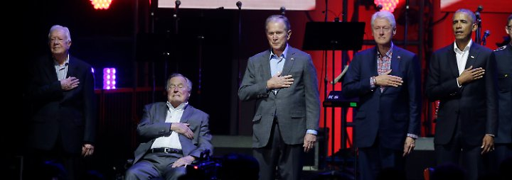 Benefizkonzert in Texas: Fünf Ex-Präsidenten sammeln Geld für Hurrikanopfer