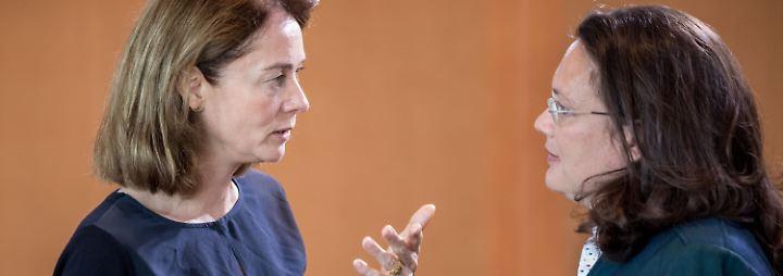 """""""Hand mal länger auf der Taille"""": Barley und Nahles prangern Sexismus im politischen Alltag ab"""