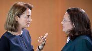 """""""Hand mal länger auf der Taille"""": Barley und Nahles prangern Sexismus im politischen Alltag an"""