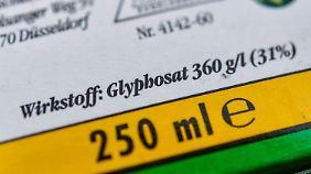 Glyphosat ist Hauptbestandteil des Mittels Roundup des US-Agrarkonzerns Monsanto.
