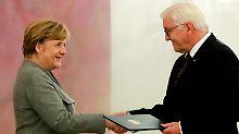 Geschäftsführend noch im Amt: Steinmeier entlässt Regierung Merkel