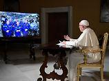 Dem Himmel so nah: Papst Franziskus telefoniert ins Weltall