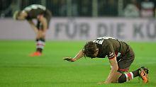Der Ärger ist groß - St. Pauli gibt das Spiel gegen Aue aus der Hand.