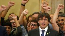 Katalonien gegen Madrid: Puigdemont kündigt Widerstand an