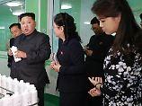 """In Begleitung der """"First Lady"""": Kim Jong Un testet Bodylotion"""