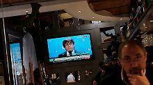 Flucht aus Barcelona: Puigdemont will in Brüssel weiterkämpfen