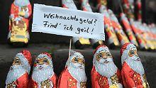 45 Prozent gehen leer aus: Jeder Zweite bekommt Weihnachtsgeld