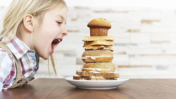 Viele Kinder essen die falschen Dinge.