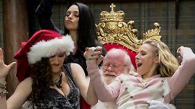 Mit dem Weihnachtsmann kann man auch Spaß haben.