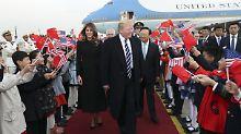 Feierlicher Empfang in Peking: Trump und Xi erwarten harte Gespräche