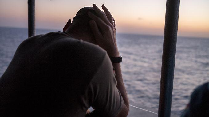 Kommandant Christian Schultze am Abend, nachdem die lybische Küstenwache unser Schiff bedrängt hat.