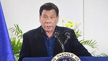 Der philippinische Präsident Rodrigo Duterte ließ im Kampf gegen die Drogen Tausende Menschen töten..