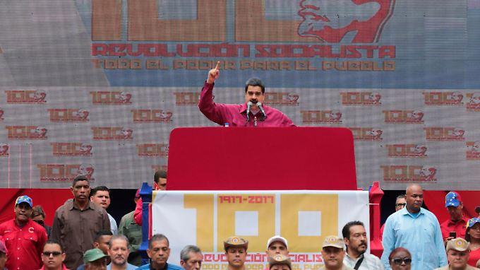 Nicolas Maduro bei einem Auftitt in Caracas