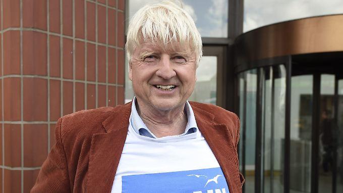 Stanley Johnson, Vater des britischen Außenministers Boris Johnson, freut sich schon auf den australischen Dschungel.