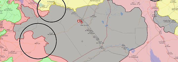 Die Lage in Karten: Wie der IS sein Kalifat verlor