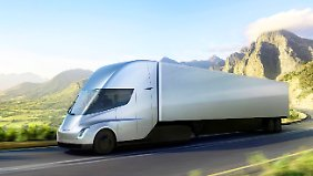 Der Tesla-Sattelschlepper soll mit voller Ladung 800 Kilometer fahren können.