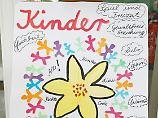 Aktion zu Kinderrechten an einer Grundschule in Schilksee, Schleswig-Holstein.