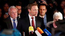 Christian Lindner erklärt den FDP-Ausstieg aus den Jamaika-Verhandlungen.