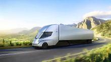 Der Semi-Truck von Tesla wie aus einem Guss aus.
